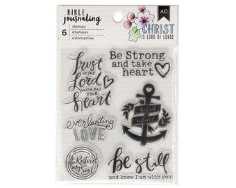 Bible Journaling Stamps TRUST In The LORD by American Crafts Bible Journaling 6 pc Clear stamp set 378668 1.cc1x