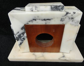 MARBLE and WOOD CLOCK Frame - Clock Making Parts - Picture Frame
