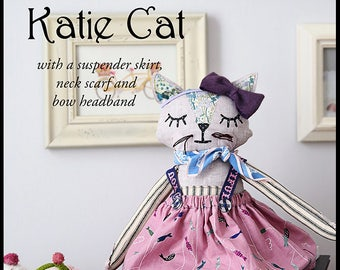 Pixie Faire Violette Field Threads Katie Cat Animal Doll Pattern  - PDF
