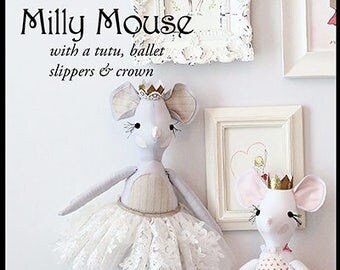 Pixie Faire Violette Field Threads Milly Mouse Animal Doll Pattern  - PDF