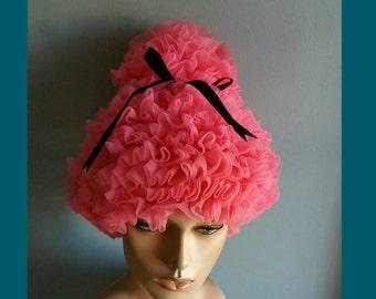 Vintage 1960s beehive turban.