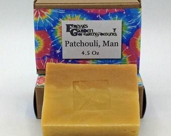 Patchouli Essential Oil Vegan Shea Butter All Natural Handmade non-GMO Soap