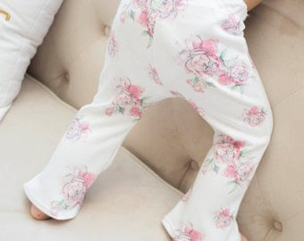 Peony Bell Bottom Leggings for Babies and Toddlers