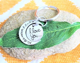 "I LOVE YOU to the moon and back keychain - Read ""item details"" below and see all photos"