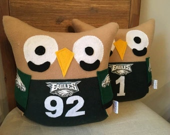 Eagles Football Jersey Owl Plushie- Philadelphia Eagles Football Plush Owl- Small Eagles Plush owl inspired by The Philadelphia Eagles
