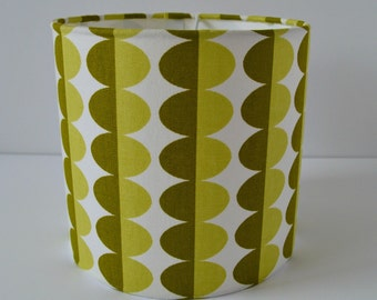 Green Ovals 20cm Drum Lampshade