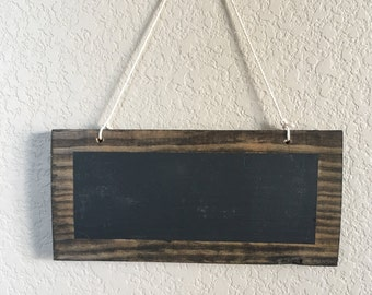 Set of Rustic Wooden Signs with Chalkboard