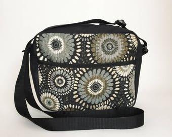 Derby Bag in Ebony, Cross Body Bag, Ipad Mini Bag, Travel Bag