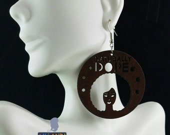 Naturally Dope- Handmade Wooden Earrings (2 colors)