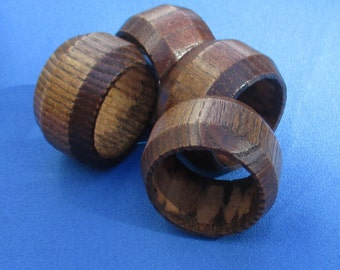 Lot Of Retro Wooden Napkin Rings