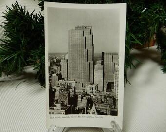 RCA Building, Rockefeller Center 1940s Postcard
