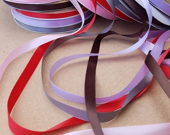 10 Yards Mix Colour Satin Ribbon Available in 6mm, 10mm & 12mm Widths