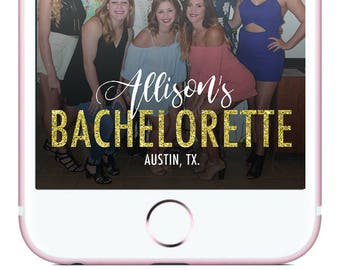 Bachelorette Party Snapchat Filter - Gold