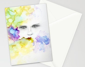 5 Greeting Cards ,5 Art Greeting Cards , Any Occasion Greeting Cards , 5 Art Cards, Collectables