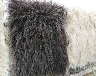 Grey Flokati Wool Area Rug 100% Pure Organic Handwoven Transylvania Wool Rugs Traditional Romanian Armchair Wool Cover Shaggy Rug
