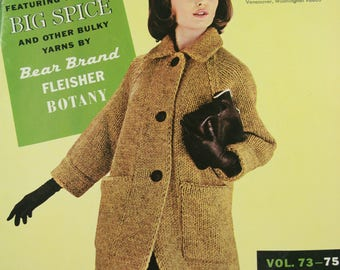 KNITTING - Bulky Knits - Yarn - Sweaters - 1963 - A-128