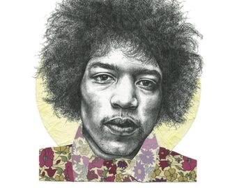 Jimi Hendrix Limited Edition Art Print