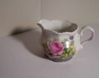 German Creamer with Roses
