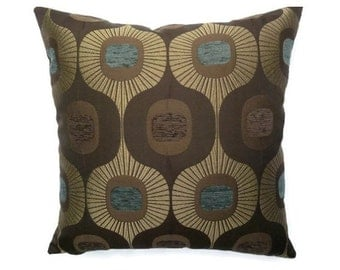 "Mid-Century Modern Accent Pillow -  Eames era look - 17"" x 17"" feather/down insert included"