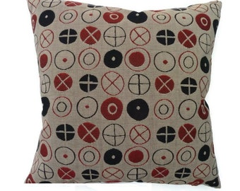 "Charles & Ray Eames ""Circles"" - Maharam - Mid-Century modern decorative accent Pillow -  17"" X 17"""