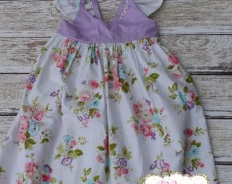 Lavender polka dot dress