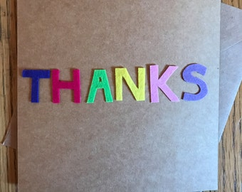 Felt thank you card