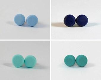 Clay Earrings - Blues