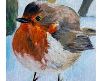 Print- Robin, bird print, robin bird, robin art, birds art, animal art, little birds art, wall art prints, nature art