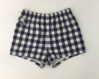 Swim'N'Play Shorts Blue and White Plaid Shorts