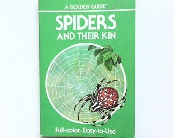 Vintage Golden Nature Guide - Spiders and Their Kin / Vintage Field Guide / Biology Book / Book on Arachnids / Homeschool Book