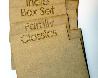 5 x Wooden DVD Dividers Organiser Storage Personalised