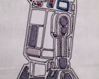Star Wars R2D2 Machine Embroidery Design
