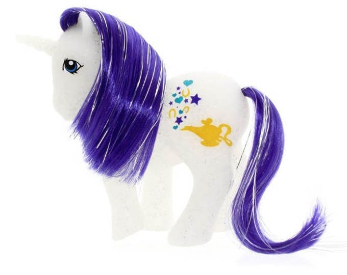 Featured listing image: CUSTOM PONY Glitter Island Genie Unicorn
