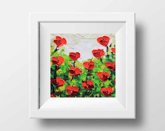 Floral Print, Flower Print, Red Poppy Print, Floral Art, Poppies, Wildflowers, Abstract Artwork, Floral Decor, Flower Decor, Poppy Art,Poppy