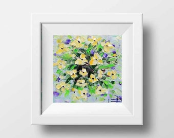 Floral Print, Flower Print, Yellow Poppy Print, Floral Art, Poppies, Wildflowers, Abstract Artwork,Floral Decor,Flower Decor,Poppy Art,Poppy