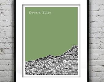 Nuwara  Eliya Sri Lanka Skyline Poster Art Print Version 1