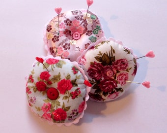 Pin Cushion, pin cushion pillow, round pin cushion, sewing accessories