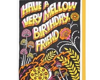 Mellow Friend Birthday Letterpress Card