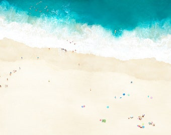 """Fine Art Photography Print, Summer Beach Scene with White Sand and Blue Water - 16"""" x 24"""" Print"""