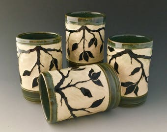 Ceramic Tumblers for Beverages by NorthWind Pottery