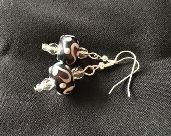 Earrings magic lamp blue