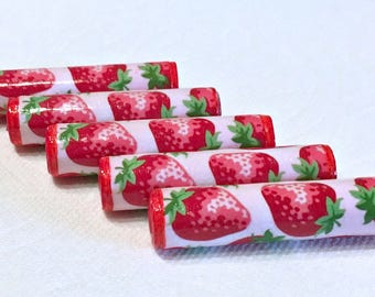 Paper Beads - Strawberries