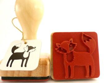 Wood stamps Fox Fox