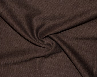 """Brown Ponte Di Roma Double Knit Polyester Rayon Spandex Lycra Stretch Medium Weight Apparel Craft Fabric 58""""-60"""" Wide By The Yard"""