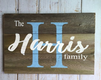 Personalized sign, Custom Name Sign, Last Name Sign, Hand painted rustic sign
