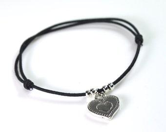 Heart bracelet cord