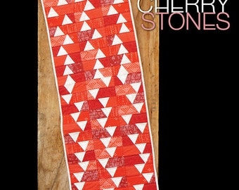 Madison Cottage  Cherry Stones Red White Table Runner Quilt Pattern