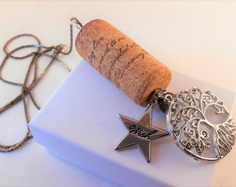 Dreaming Tree Wine Cork Pendant Necklace
