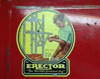 Vintage Erector Set 1948 Box A.C. Gilbert Company Airplane Ride