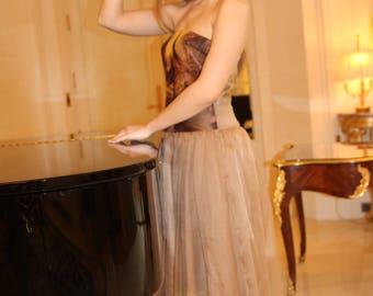 Dress with skin tree nunofelt design